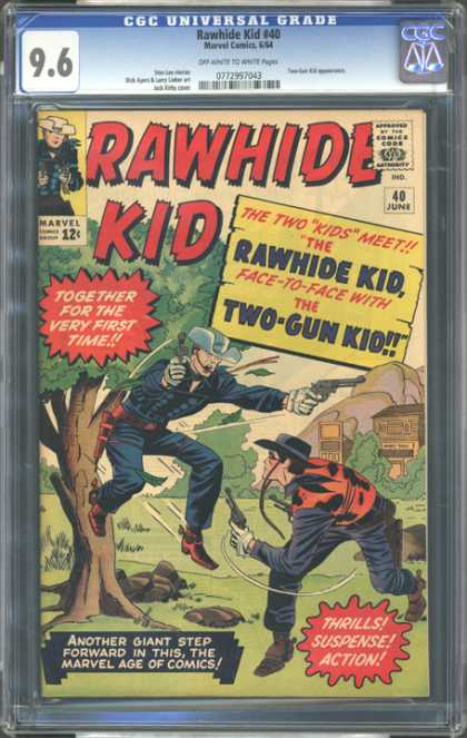 CGC Graded Comics - Rawhide Kid #40 (CGC) - Approved By The Comics Code Authority - Rawhide Kid - Cap - Marvel - Gun