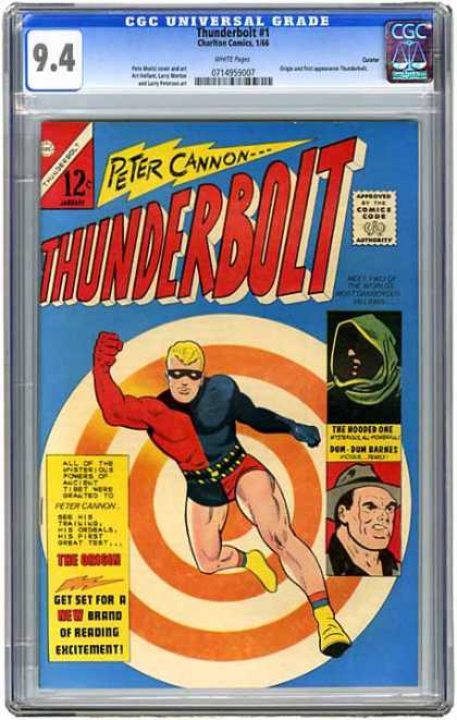 CGC Graded Comics - Thunderbolt #1 (CGC) - Peter Cannon - Target - Bullseye - Fist - Black Mask