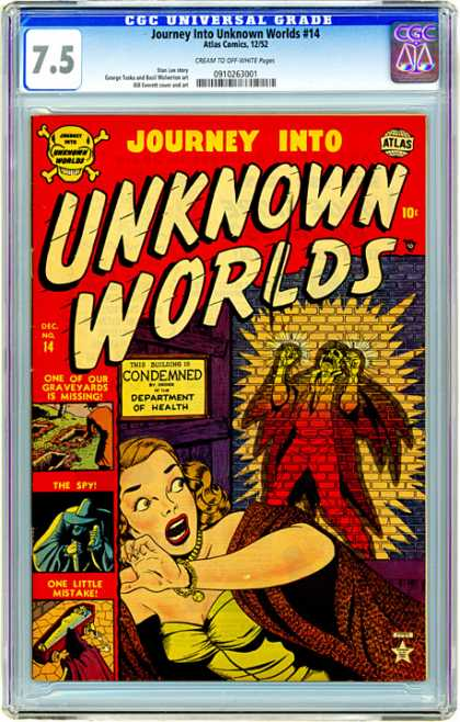 CGC Graded Comics - Journey Into Unknown Worlds #14 (CGC)