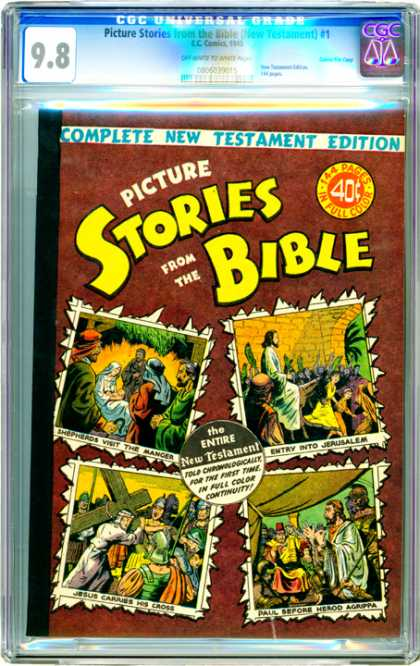 CGC Graded Comics - Picture Stories from the Bible (New Testament) #1 (CGC) - New Testament Edition - Jesus - Sheperds - Jerusalem - Paul