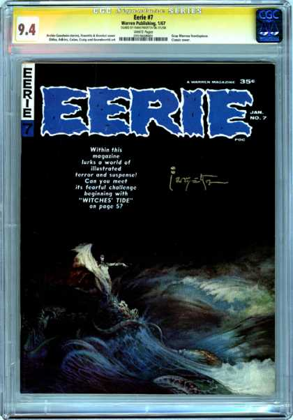 CGC Graded Comics - Eerie #7 (CGC) - Terror - Eerie - No 7 - January - Witches Tide