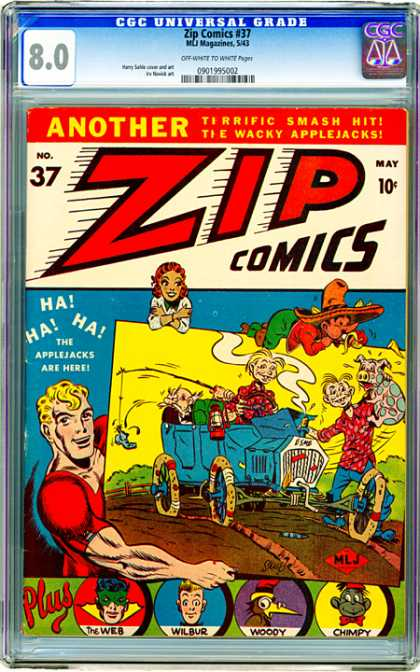 CGC Graded Comics - Zip Comics #37 (CGC)