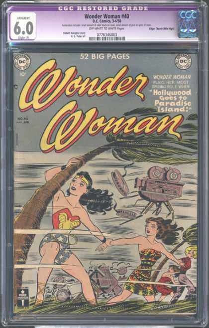 CGC Graded Comics - Wonder Woman #40 (CGC) - Darna - Tree - Sea - Air - Rocks