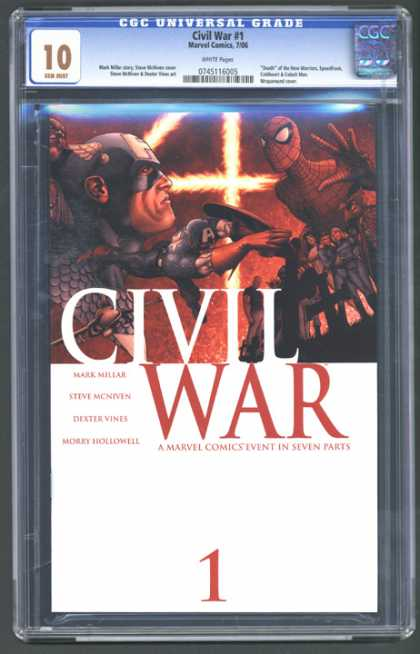 CGC Graded Comics - Civil War #1 (CGC) - Civil War 1 - Spider-man - The Fantastic Four - Mark Miller - A Marvel Comics Event In Seven Parts