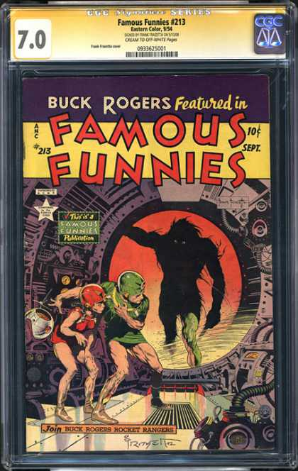 CGC Graded Comics - Famous Funnies #213 (CGC) - Buck Rogers - 10 Cents - Famous Funnies - September - 213