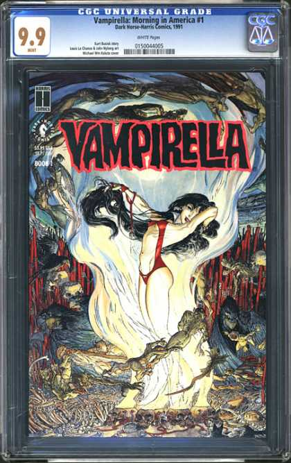 CGC Graded Comics - Vampirella Morning in America #1 (CGC) - Vampirella - Morning In America - Dark Horse - 99 - Water