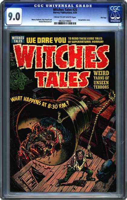 CGC Graded Comics - Witches Tales #25 (CGC) - Bell Ringing - Severed Head - Terrors - 830 Pm - Happens