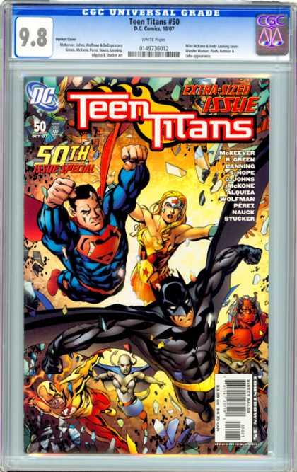 CGC Graded Comics - Teen Titans #50 (CGC) - Superman - Batman - United - Flash - Wonder Woman