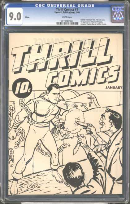 CGC Graded Comics - Thrill Comics #1 (CGC) - Thrill Comics - January - Superman - Guns - Chains