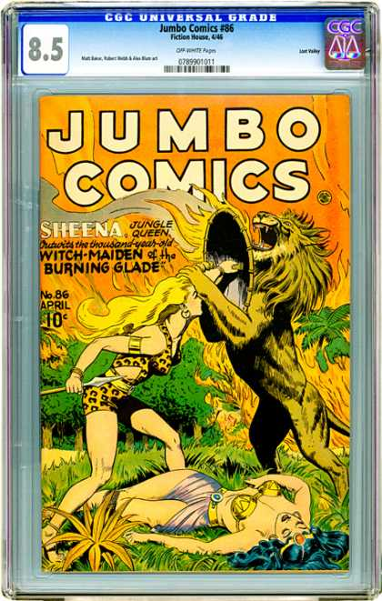 CGC Graded Comics - Jumbo Comics #86 (CGC) - No86 April - Thousand Year Old - Sheena - Jungle Queen - Witch - Maiden