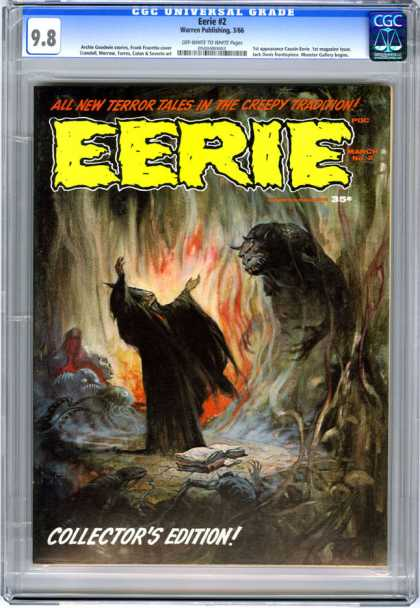 CGC Graded Comics - Eerie #2 (CGC) - Collectors Edition - Fire - Demons - Spellbook - Wizard