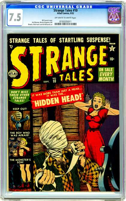 CGC Graded Comics - Strange Tales #10 (CGC) - Atlas - Atlas Comics - Strange Tales - Hidden Head - Mummy