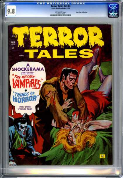 CGC Graded Comics - Terror Tales #v4 #4 (CGC) - Terror Tales - The Bloody Vampires - Things Of Horror - Frankenstein - Blood