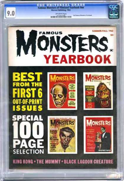 CGC Graded Comics - Famous Monsters of Filmland Yearbook #nn (CGC) - Famous Monsters Yearbook - King Kong - The Mummy - Black Lagoon Creature - 100 Page Selection