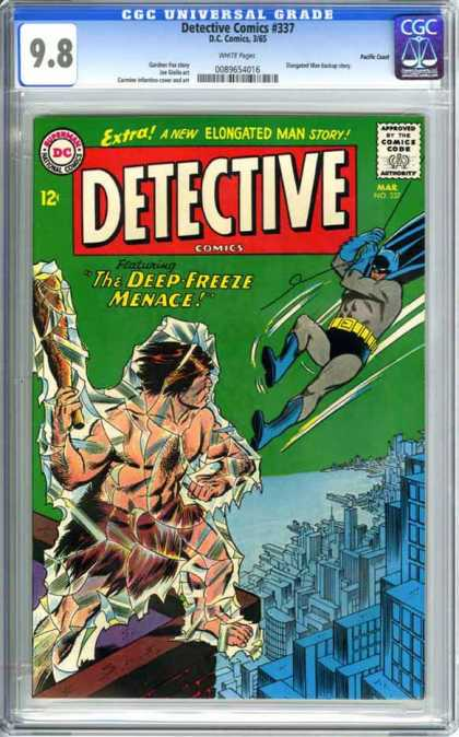 CGC Graded Comics - Detective Comics #337 (CGC) - Detective Comics - The Deep Freeze Meance - Batman - Elongated Man Story - Ice