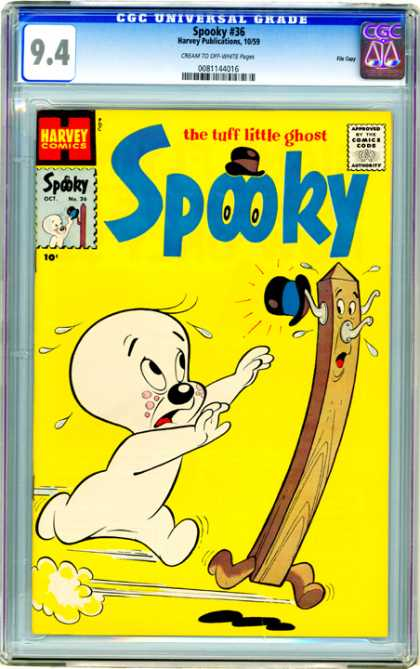 CGC Graded Comics - Spooky #36 (CGC) - The Tuff Little Ghost - Spooky - Harvey - Spooky 36 - Comics