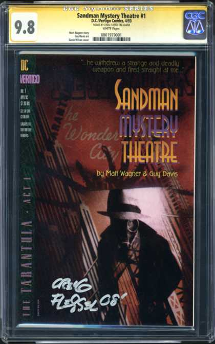 CGC Graded Comics - Sandman Mystery Theatre #1 (CGC) - Man - Sword - Hat - Darl - Shadow