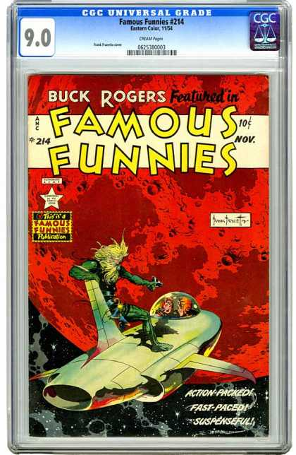 CGC Graded Comics - Famous Funnies #214 (CGC) - Buck Rogers - November Issue - Spaceship - Acion Packed - 10 Cents