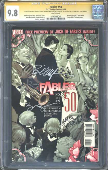 CGC Graded Comics - Fables #50 (CGC) - Vertigo - Man - Woman - Dancing - Trumpet