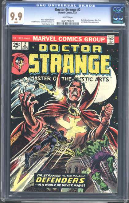 CGC Graded Comics - Doctor Strange #2 (CGC) - Doctor Strange - Master Of The Mystic Arts - The Dynamic Defenders - Devil - Incredible Hulk