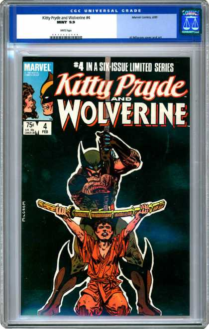CGC Graded Comics - Kitty Pryde and Wolverine #4 (CGC) - Marvel Comics - Limited Series - Wolverine - Kitty Pryde - February
