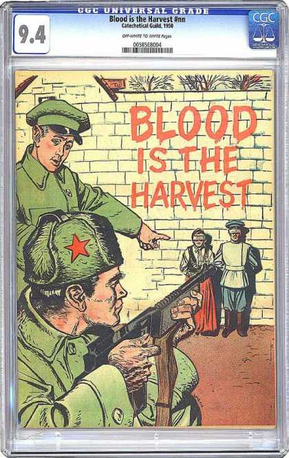 CGC Graded Comics - Blood is the Harvest #nn (CGC) - Shooting - Communism - Execution - Couple - Soldiers