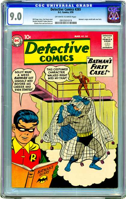 CGC Graded Comics - Detective Comics #265 (CGC) - Robin - Net - Batmans First Case - Batmans Diary - Trap