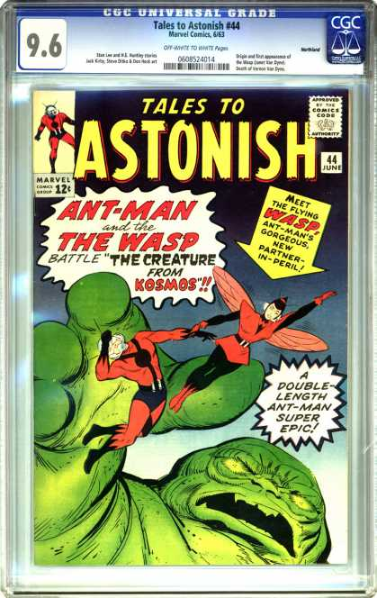 CGC Graded Comics - Tales to Astonish #44 (CGC) - Tales To Astonic - Ant-man And The Wasp - The Creature From Kosmos - Double-length Ant-man Super Epic - Gorgeous New Partner-in-peril