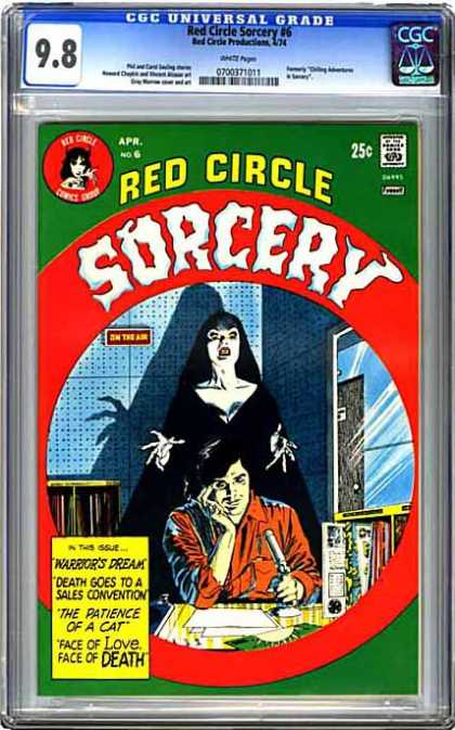CGC Graded Comics - Red Circle Sorcery #6 (CGC) - What Lurks In The Dark - Death - On The Air - Classic - Scary