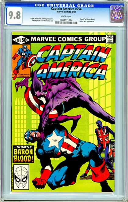 CGC Graded Comics - Captain America #254 (CGC)