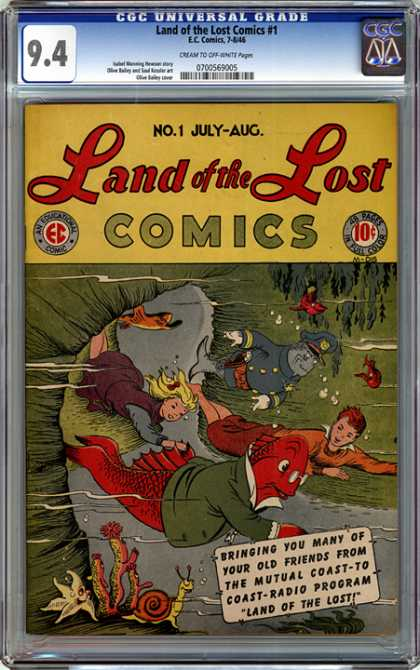 CGC Graded Comics - Land of the Lost Comics #1 (CGC) - Will They Find Their Way Home - They Need Your Help - Look Who Is Lost - An Under Sea Adventure - Somewhere Beyond The Sea
