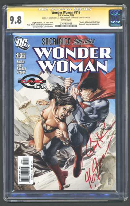 CGC Graded Comics - Wonder Woman #219 (CGC) - Wonder Woman - Dc - Tie-in - Superman - Mountains