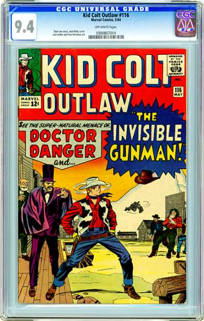 CGC Graded Comics - Kid Colt Outlaw #116 (CGC) - Kid Colt Outlaw - The Invisible - Doctor Danger - Gun - Cow Boy