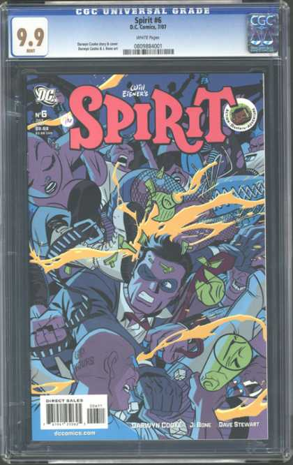 CGC Graded Comics - Spirit #6 (CGC) - Dave Stewart - Jbone - Darwyn Cooke - Ready For Attack - Shouting