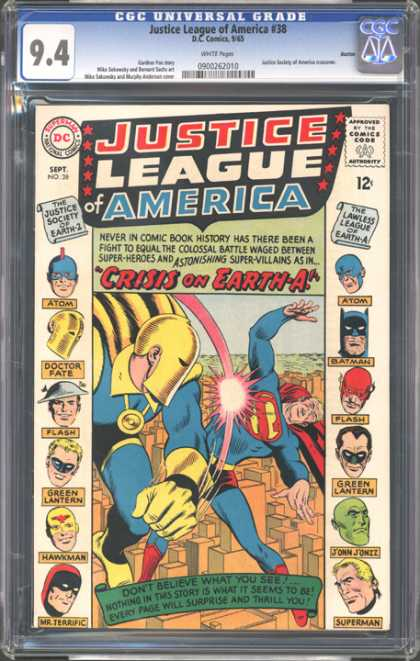 CGC Graded Comics - Justice League of America #38 (CGC)