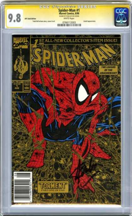 CGC Graded Comics - Spider-Man #1 (CGC) - The Legend - One Spider Man - Torment - Spider Man Is Searching Something - Hand