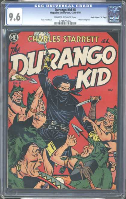 CGC Graded Comics - Durango Kid #8 (CGC) - Warriors - Green Wolf Cloaks - Revolver - Black Hat - Gold Earring