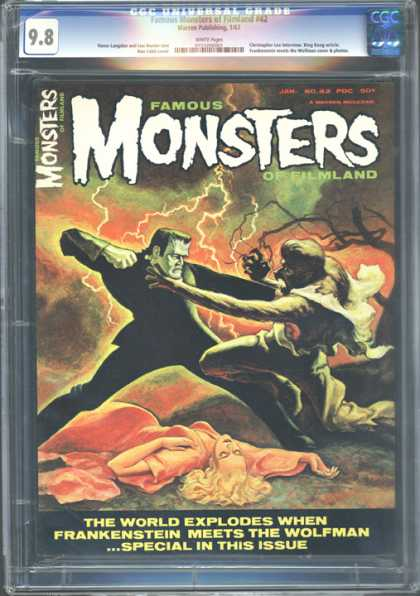 CGC Graded Comics - Famous Monsters of Filmland #42 (CGC) - Monsters - Famous - Werevolf - Monster - Woman