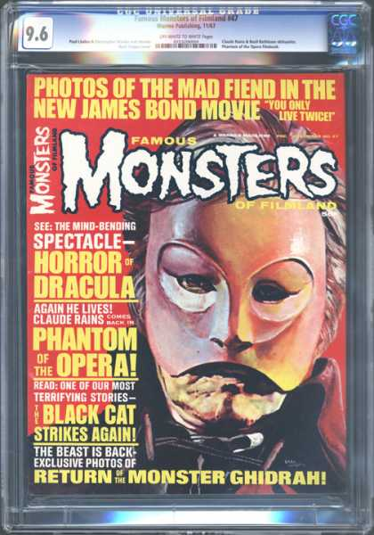 CGC Graded Comics - Famous Monsters of Filmland #47 (CGC) - Dracula - Phantom Of The Opera - Black Cat - Fiend - Ghidrah