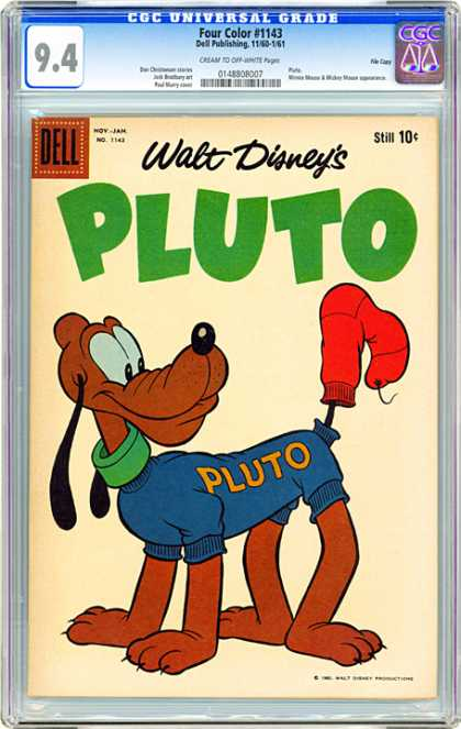CGC Graded Comics - Four Color #1143 (CGC) - Disney - Dell - Dog - Pluto - Sock
