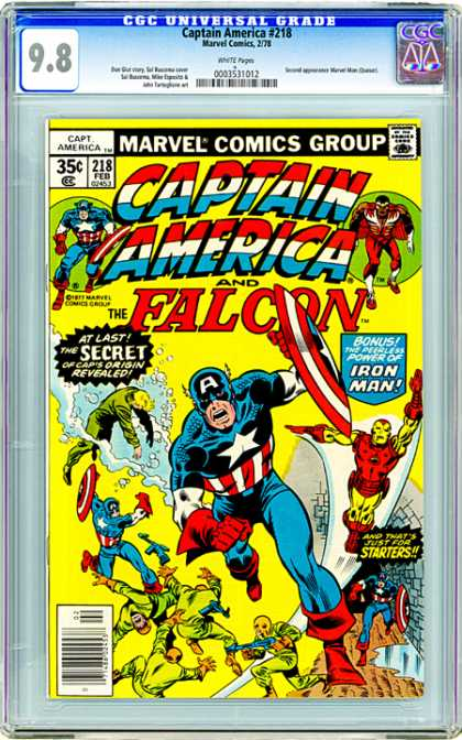 CGC Graded Comics - Captain America #218 (CGC)