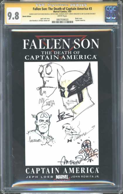 CGC Graded Comics - Fallen Son: The Death of Captain America #3 (CGC) - Fallen Son - Death - Captain America - Comic - Marvel