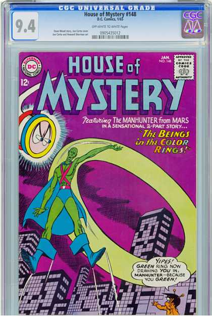 CGC Graded Comics - House of Mystery #148 (CGC) - Dc - Martian Manhunter - City - Green - The Beings In The Color Rings