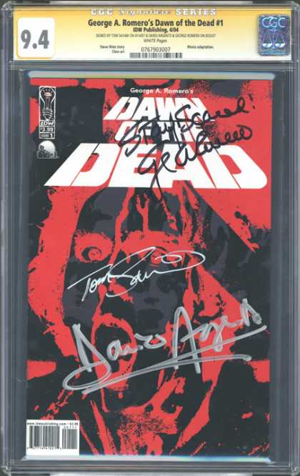 CGC Graded Comics - George A. Romero's Dawn of the Dead #1 (CGC)