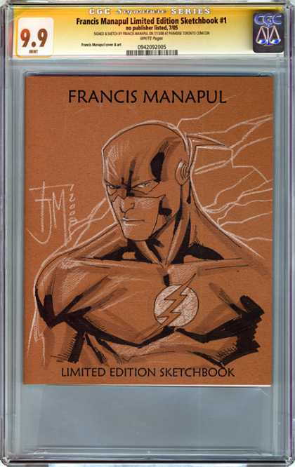 CGC Graded Comics - Francis Manapul Limited Edition Sketchbook #1 (CGC) - Francis Manapul - Limited Edition - Sketchbook - Conte - Drawing