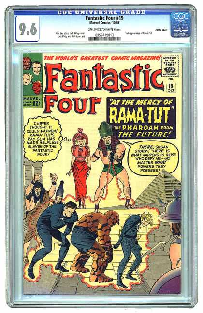 CGC Graded Comics - Fantastic Four #19 (CGC) - Rama-tut - Human Torch - Silver Age - Egypt - Time Travel Story