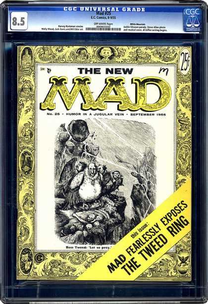 CGC Graded Comics - Mad #25 (CGC) - Mad - Book - Humor In A Jugular Vein - Mad Fearlessly Exposes The Tweed Ring - September