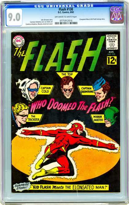 CGC Graded Comics - Flash #130 (CGC) - Captain Cold - The Top - Captain Boomerang - Mirror Master - The Trickster