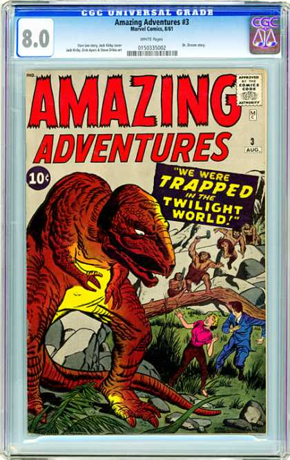 CGC Graded Comics - Amazing Adventures #3 (CGC) - We Ware Trapped In The Twiling World - Juracic Park - Desrrt - Runini Two People - Rock