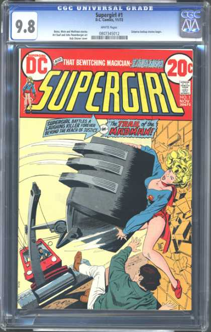 CGC Graded Comics - Supergirl #1 (CGC) - Supergirl - Madman - Lifting - Construction - Bricks